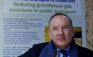 Le patron du Medef Pierre Gattaz au Bourget, en Seine-Saint-Denis, le 4 décembre 2015