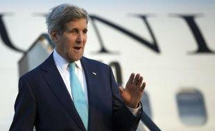 Le secrétaire d'Etat américain John Kerry arrive à Sharm el-Sheikh en Egypte, le 13 mars 2015