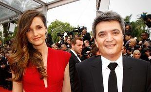 Céline Bosquet et Thomas Langmann au Festival de Cannes le 14 mai 2015.
