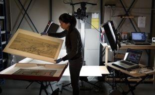 Chantier de numérisation du musée de Bretagne, société Manzara, 2017.