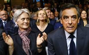 François Fillon et sa femme Penelope le 25 novembre 2016 à Paris.