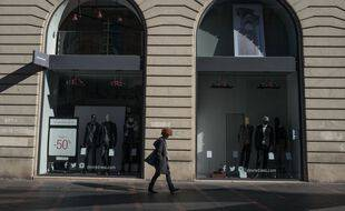 Une boutique fermée à Toulouse, le 31 octobre 2020.