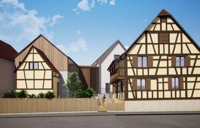 Le Domaine de l'Aubier accueillera 26 logements. Dont un dans la maison typique reconstruite (à droite).