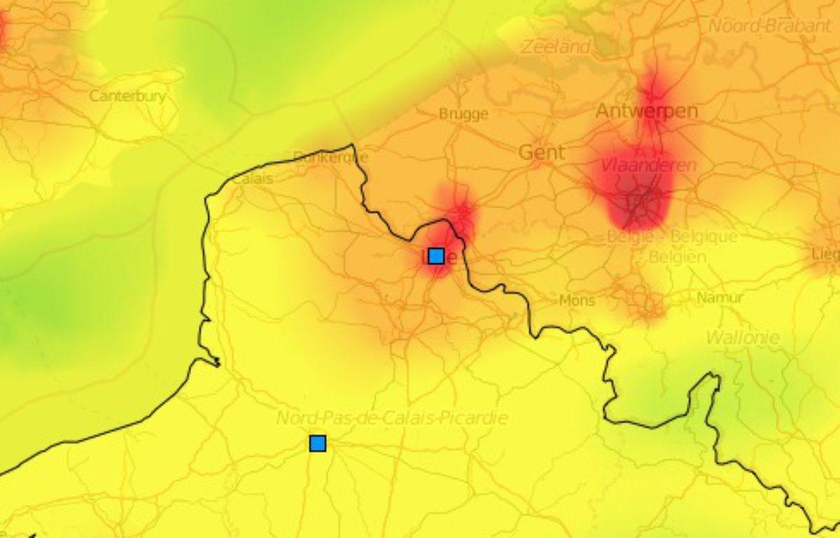 Nappe de pollution aux particules dans le Nord de la France – Prev'Air