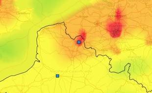 Nappe de pollution aux particules dans le Nord de la France