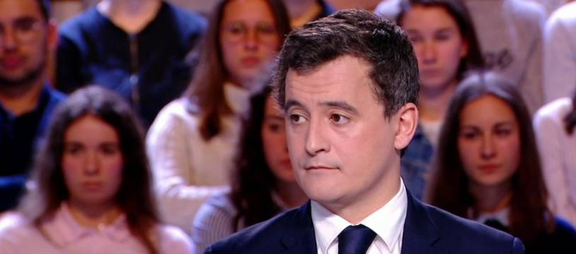 Gérald Darmanin minsitre des Comptes public à L'Emission politique le 15 mars 2018.