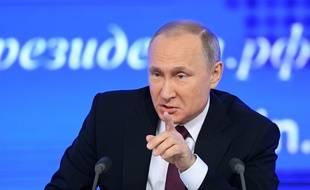 Vladimir Poutine lors de sa conférence de presse annuelle le 23 décembre 2016.