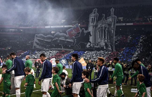 L'un des tifos dévoilés par les supporters lyonnais, lors du dernier derby, disputé en mars dernier dans un Parc OL alors bondé.