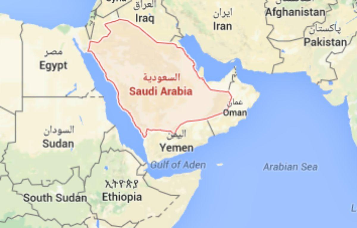L'Arabie Saoudite. – Capture d'écran / Google Maps