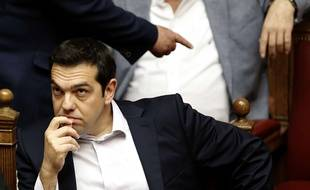 Alexis Tsipras, le Premier ministre grec, au Parlement grec le 27 juin 2015.
