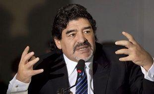 L'Argentin Diego Maradona, le 26 février 2013, à Naples.