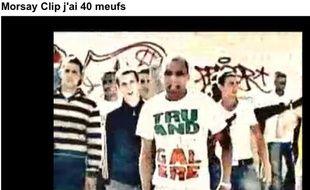 Capture-écran du clip du rappeur Morsay, «J'ai 40meufs».