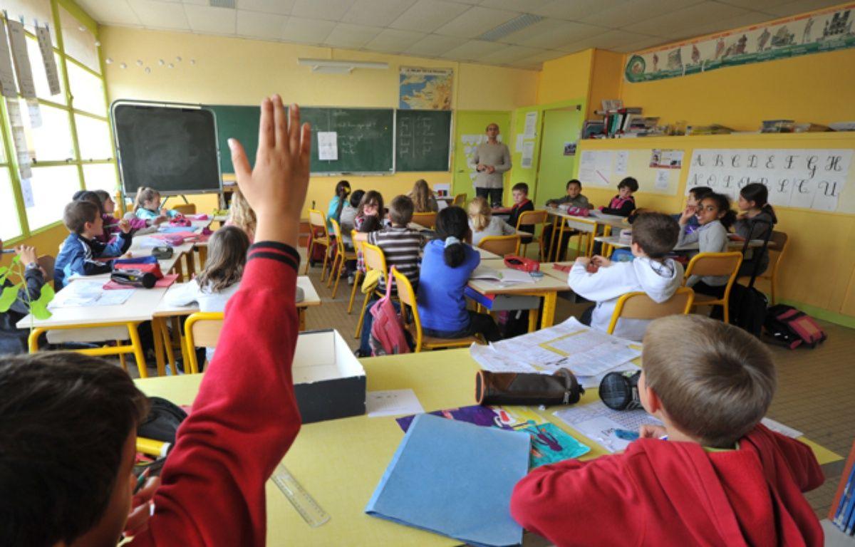 Une classe de primaire près d'Angers.  – FRANK PERRY / AFP
