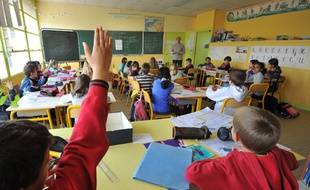 Une classe de primaire près d'Angers.