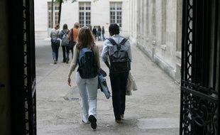 Des élèves de classes préparatoires au lycée Henri IV de Paris.