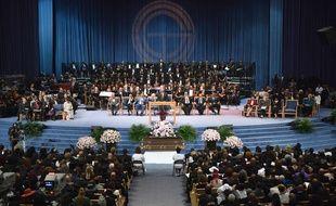 Les funérailles d'Aretha Franklin au Greater Grace Temple, vendredi 31 août à Détroit.