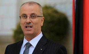 Le Premier ministre palestinien Rami Hamdallah à Ramallah le 3 juin 2014