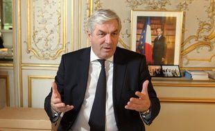 François Sauvadet, ministre de la Fonction publique et vice-président du Nouveau Centre (le 14 février 2012 à Paris)