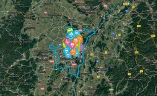 Debatomap est un outil participatif mis en place par le cabinet d'urbanistes Repérage urbain pour les municipales à Strasbourg.