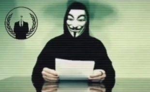 Capture d'écran d'une vidéo d'Anonymous annonçant une campagne contre Donald Trump.