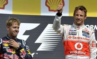 Le Britannique Jenson Button (McLaren) a remporté le Grand Prix de Belgique de Formule 1, 12e manche de la saison 2012, devant l'Allemand Sebastian Vettel (Red Bull) et le Finlandais Kimi Räikkönen (Lotus), dimanche sur le circuit de Spa-Francorchamps, près de Liège.