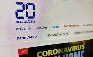 Illustration de la page du site du média 20minutes.fr, le 5 mai 2020