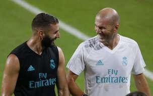 Karim Benzema et Zinédine Zidane au Real Madrid, en mai 2017.
