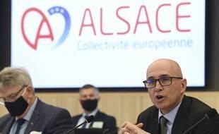 Le premier président de la nouvelle collectivité d'Alsace, Frederick Bierry.