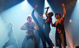 Le groupe de rap Columbine, ici aux Trans Musicales, a été fondé à Rennes et soutenu par L'Antipode et les Trans.