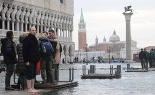 Venise sous les eaux, le 30 novembre 2009.