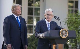 Donald Trump a nommé Jerome Powell pour succéder à Janet Yellen à la tête de la Fed, le 2 novembre 2017.