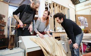 Didier Benois (à g.), Sophie Ferjani et Mathieu Fleury forment l'une des deux équipes de «Redesign» sur M6.
