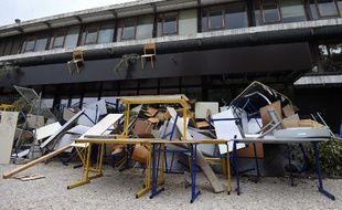 Le blocage de l'université  Paul Valery de Montpellier le 27/03/2018.