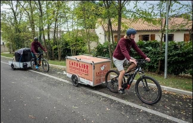 Un vélo-cargo peut transporter jusqu'à 350 kg.