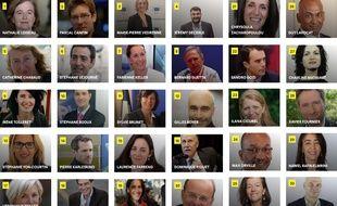 Les 30 têtes de la liste LREM «Renaissance» aux élections européennes de 2019.