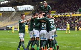 Les Verts ont terrassé dimanche dernier un adversaire direct à la lutte pour la Ligue Europa, le FC Nantes (0-3). LOIC VENANCE