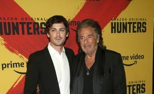 Les acteurs de la série Hunters, Logan Lerman et Al Pacino