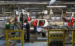 La chaîne de fabrication des Toyota Yaris à Onnaing, dans le Nord.