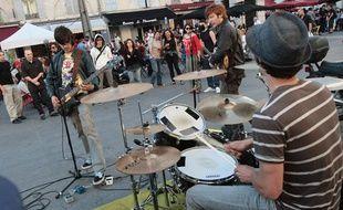 Lors de la Fête de la musique à Marseille.