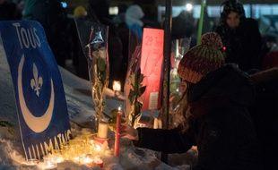 Les commémorations à Québec, juste après la tuerie dans une mosquée, le 29 janvier 2017.