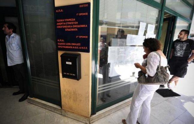 Le taux de chômage en Grèce a continué d'empirer en avril, frappant 22,5% de la population active contre 21,9% en mars, les jeunes restant les plus touchés, a annoncé jeudi l'Autorité des statistiques grecques.