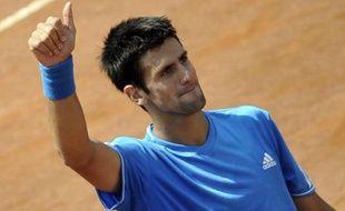 Le tennisman serbe Novak Djokovic, vainqueur le 1er mai 2009 de Juan Martin Del Potro à Rome.