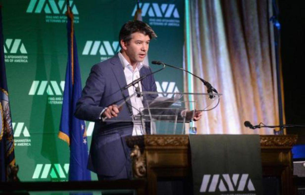 Le PDG et cofondateur d'Uber, Travis Kalanick, lors d'un discours à New York le 13 novembre 2014 – Stephen Lovekin Getty