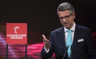 Ulrich Grillo, le patron de la puissante fédération allemande de l'industrie (BDI),à Hanovre, le 6 avril 2014