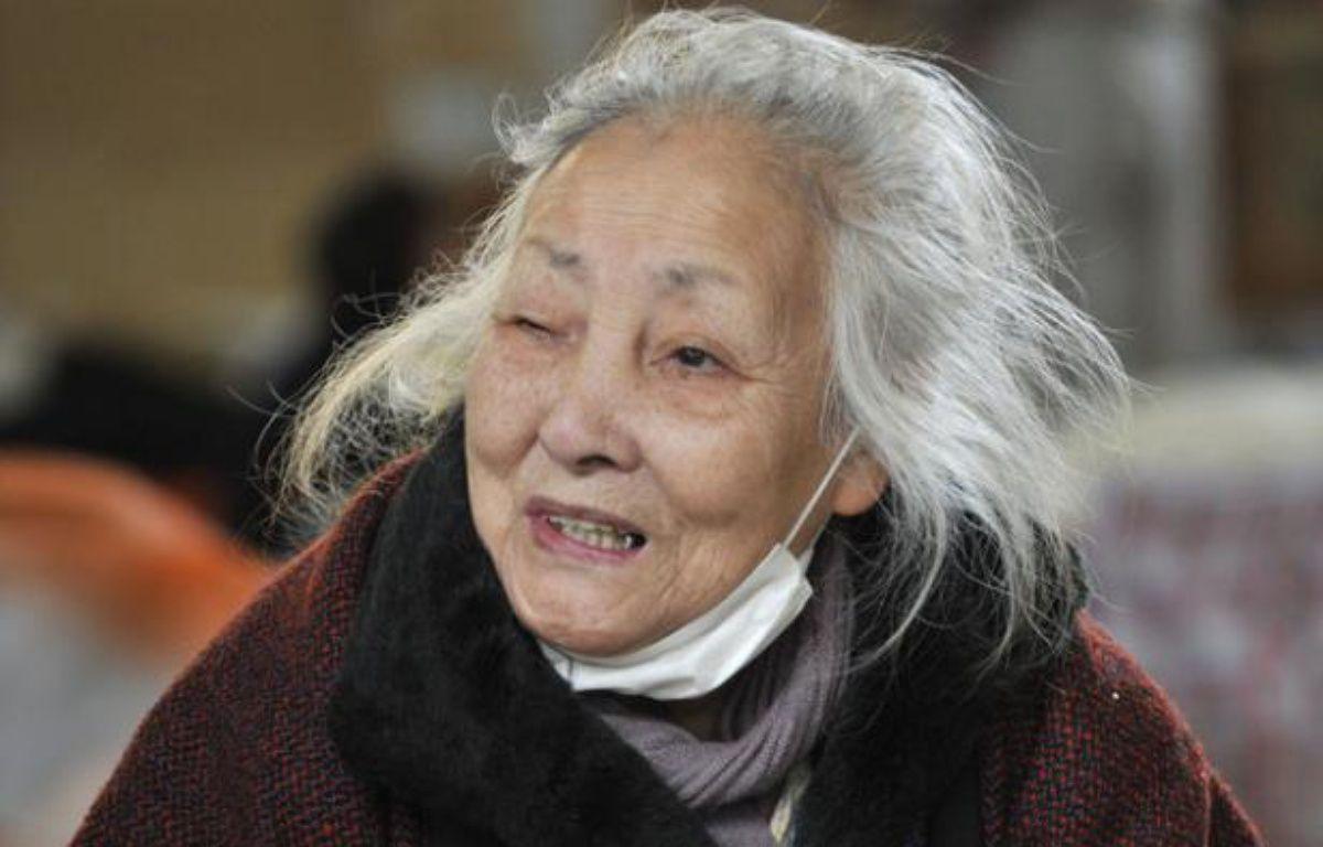 Tsuyako Ito répond à une interview à Kamaishi, le 25 mars 2011  – K.Nogi