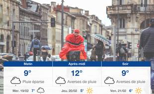 Météo Bordeaux: Prévisions du mardi 18 février 2020