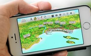 Le jeu, disponible sur smartphone.