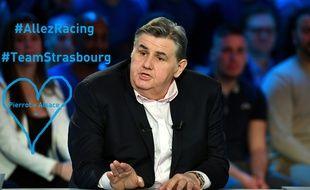 Pierre Ménès affiche clairement son soutien pour le RC Strasbourg présidé par son ami Marc Keller, qu'il espère voir remonter en Ligue 1 cette année.