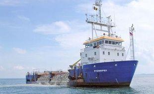 Le Pompéi, navire belge détourné le 18 avril 2009 au large des côtes somaliennes (photo non datée).