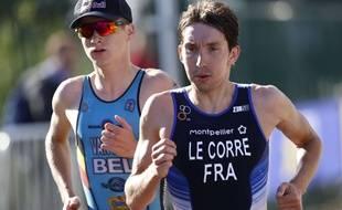 Le triathlète français Pierre Le Corre, vendredi 10 août.